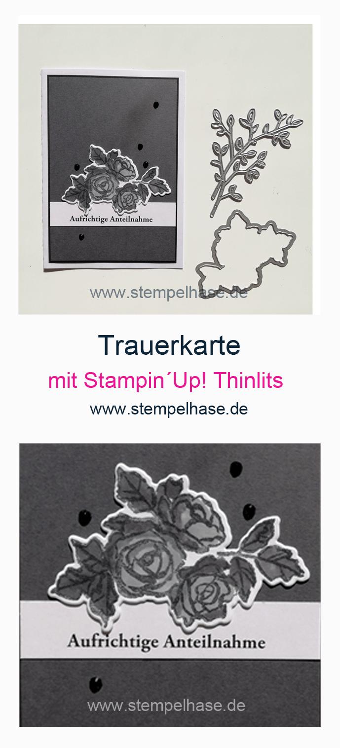 Beileidsbekundung Karte.Trauerkarte Beileidskarte Mit Blutentraum Und Thinlits