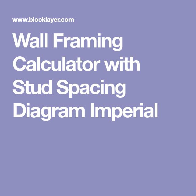 Wall framing calculator with stud spacing diagram imperial framing wall framing calculator with stud spacing diagram imperial sequence ccuart Gallery