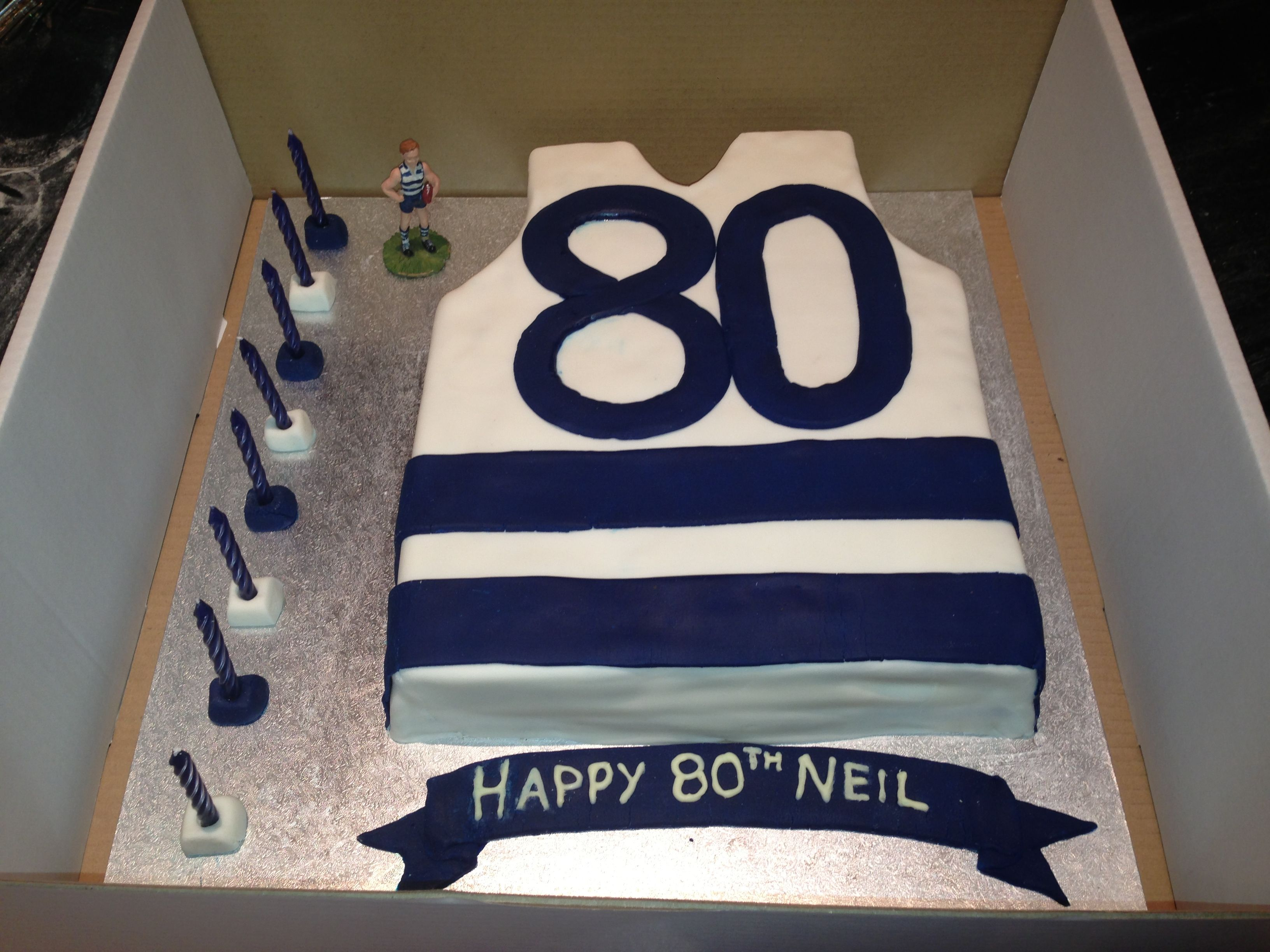 Gluten Egg Free Layered Mud Cake Geelong Cats Afl Theme For