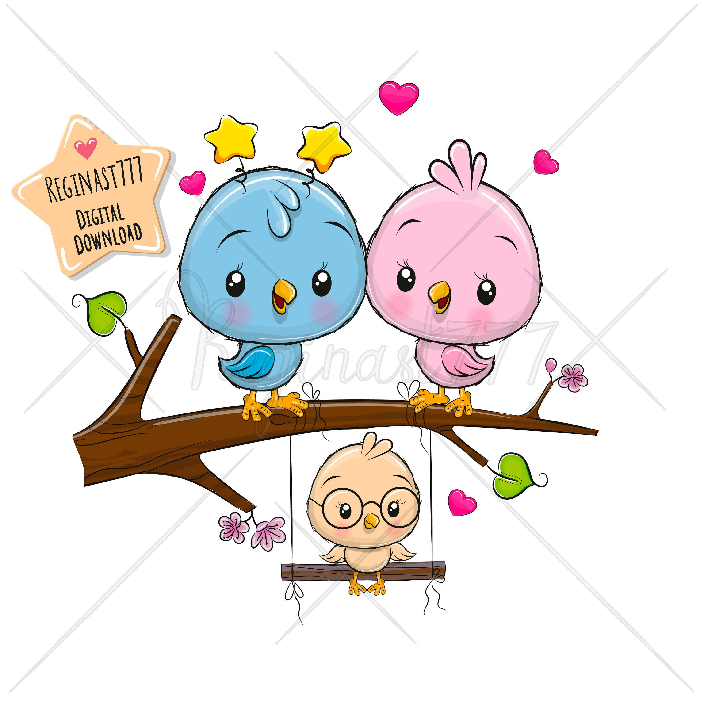 Birds Clipart Png Cute Bapy Clipart Cute Birds Mom Son Etsy In 2021 Bird Clipart Cute Birds Bird Mom