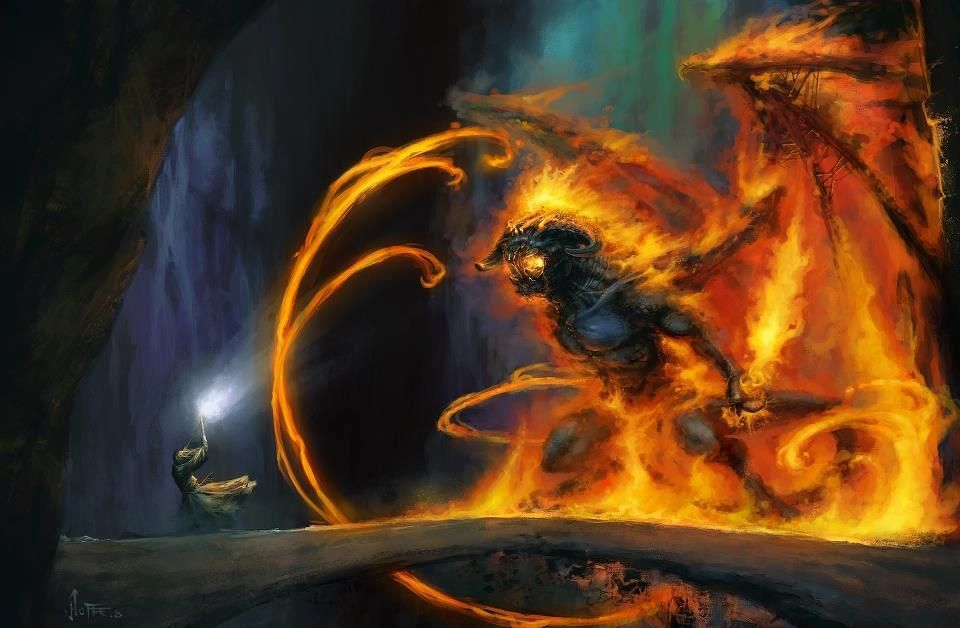 Balrog Lord Of The Rings Balrog Gandalf