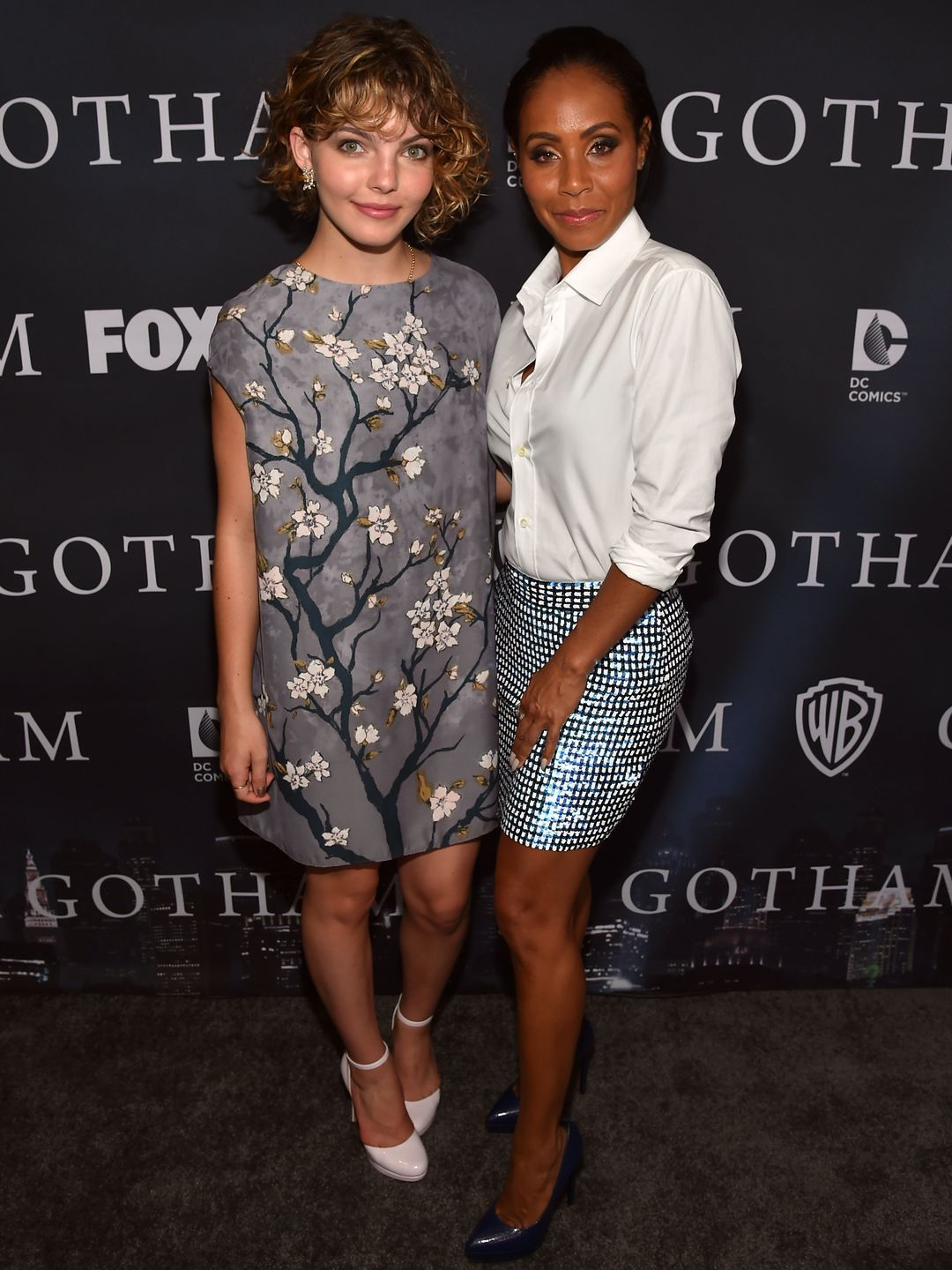 "Co-stars Cameron Bicondova and Jada Pinkett Smith attend the season-finale screening of their show ""Gotham"" on April 28 in Los Angeles.  Alberto E. Rodriguez, Getty Images"