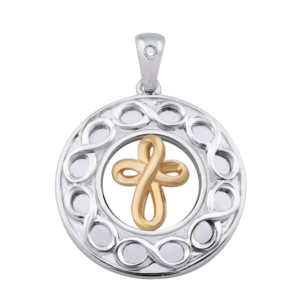 This handcrafted sterling silver pendant with infinity symbol this handcrafted sterling silver pendant with infinity symbol overlays representing the limitless gifts brought by buycottarizona Choice Image