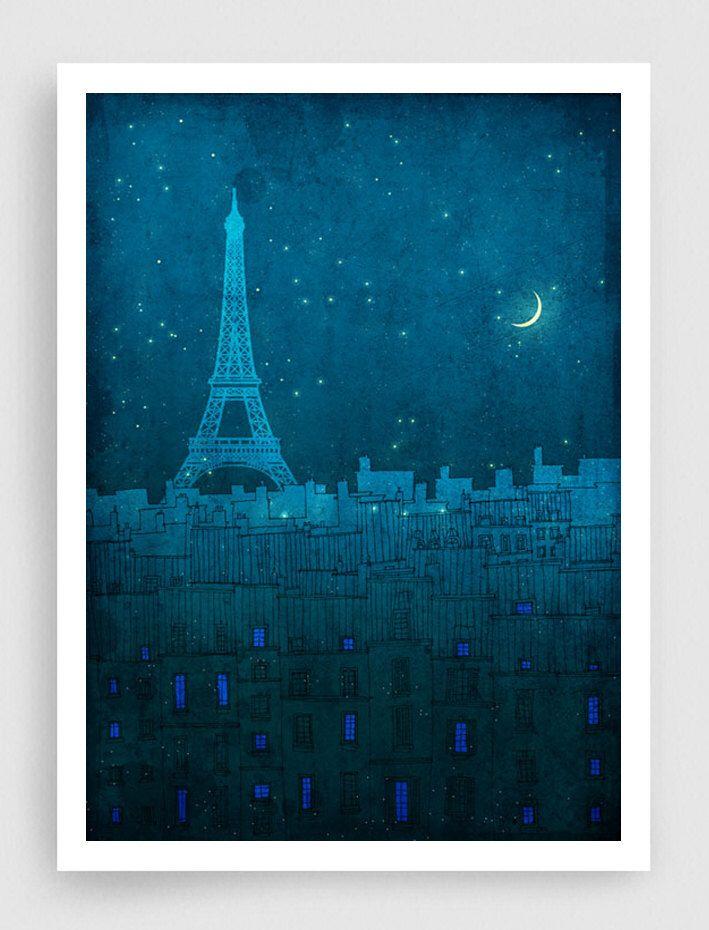 Paris illustration - The Eiffel tower in PARIS - Art Illustration Print Poster Paris Art Prints Paris decor Wall decor Architectural drawing by tubidu on Etsy https://www.etsy.com/listing/113295293/paris-illustration-the-eiffel-tower-in