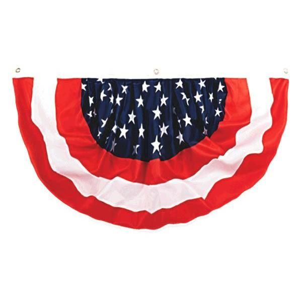 Set the scene for a festive July 4th or Patriotic Themed Celebration with our red, white and blue medium size nylon bunting. This patriotic bunting can be used indoors or outdoors and perfect for decorating at your 4th of July or Patriotic Themed festivities. Bunting measure 36in and comes one per package.