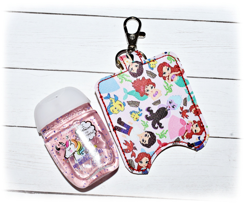 Mermaid Hand Sanitizer Holder Pocketbac Holder Sanitizer Key Fob