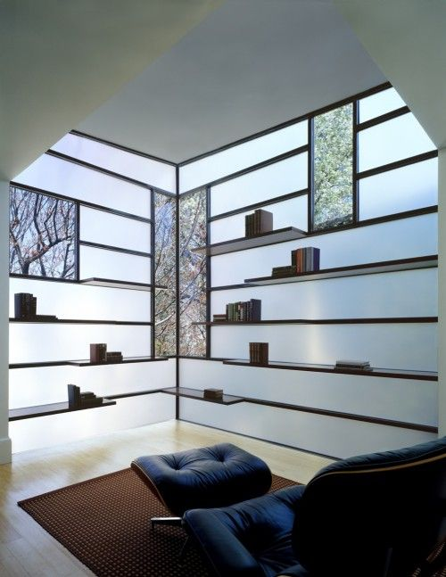 Opaque walls, with transparent windows. Give the entire room light ...