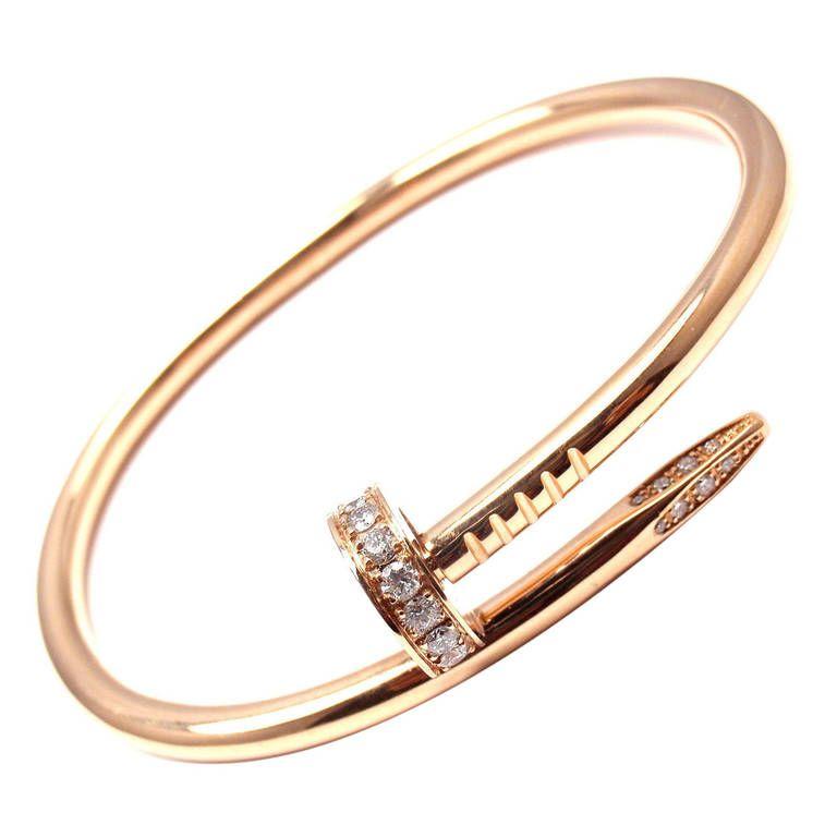 ab81792b0c27a Cartier Juste un Clou Diamond Rose Gold Nail Bangle Bracelet in 2019 ...