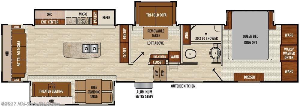 Mid State Rv Inventory Coachmen Rv Travel Trailer Floor Plans Rv Floor Plans