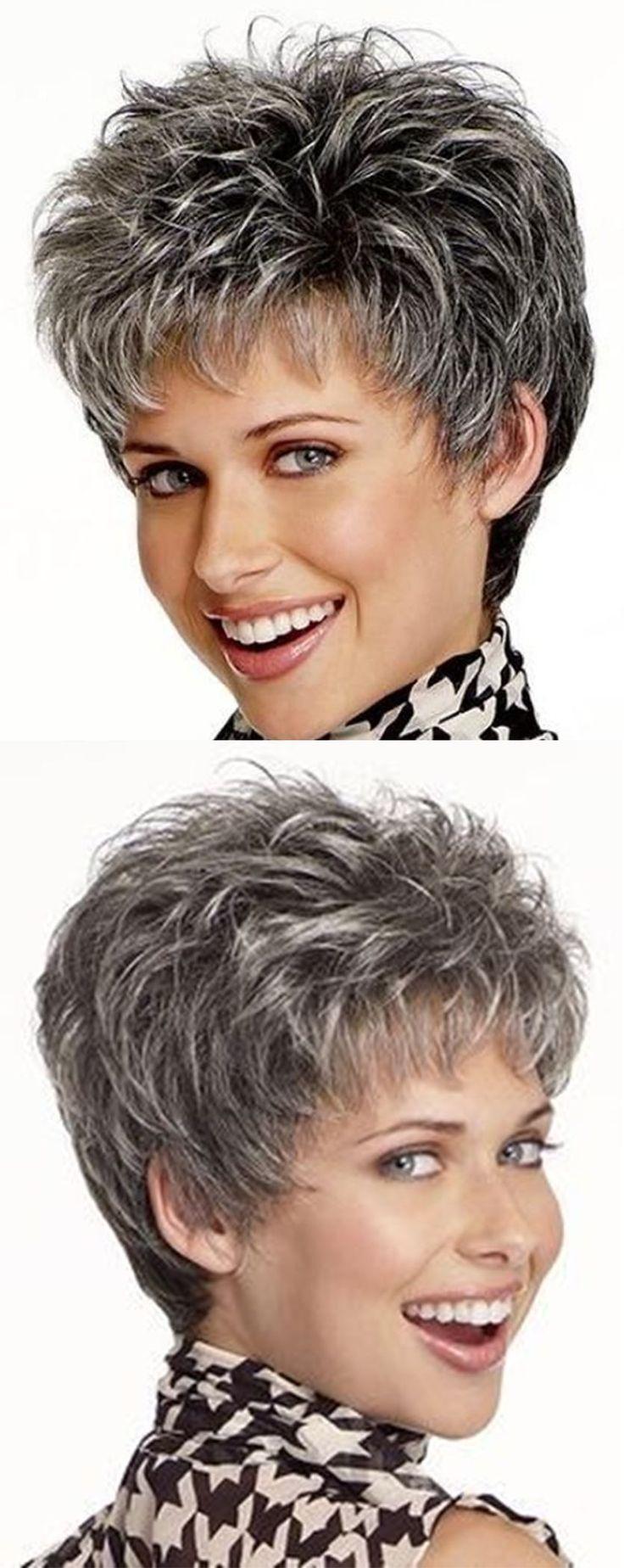 Einfache und elegante Kurzhaarfrisur für Frauen über 50  – Frisuren