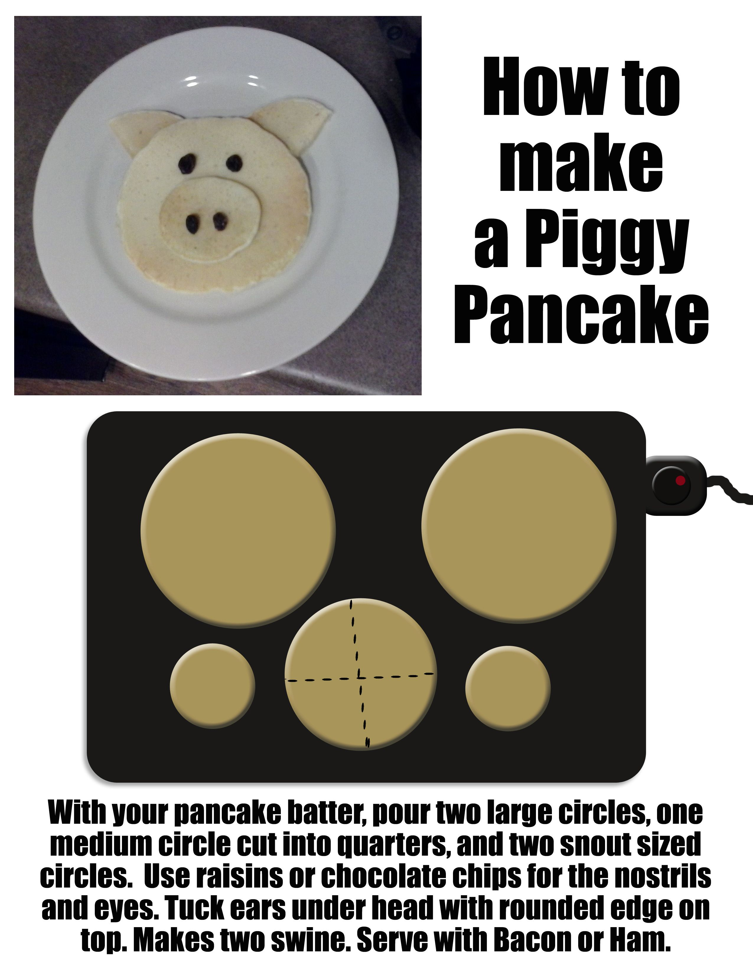 How to make pancakes shaped like pigs to entertain and feed the kids how to make pancakes shaped like pigs to entertain and feed the kids in the morning ccuart Gallery