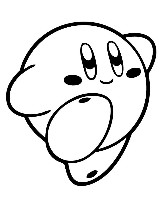 Kirby Coloring Pages Printable