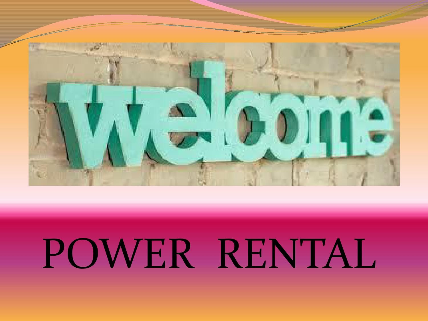 Power Rental Provide Generator For Rent Air compressor