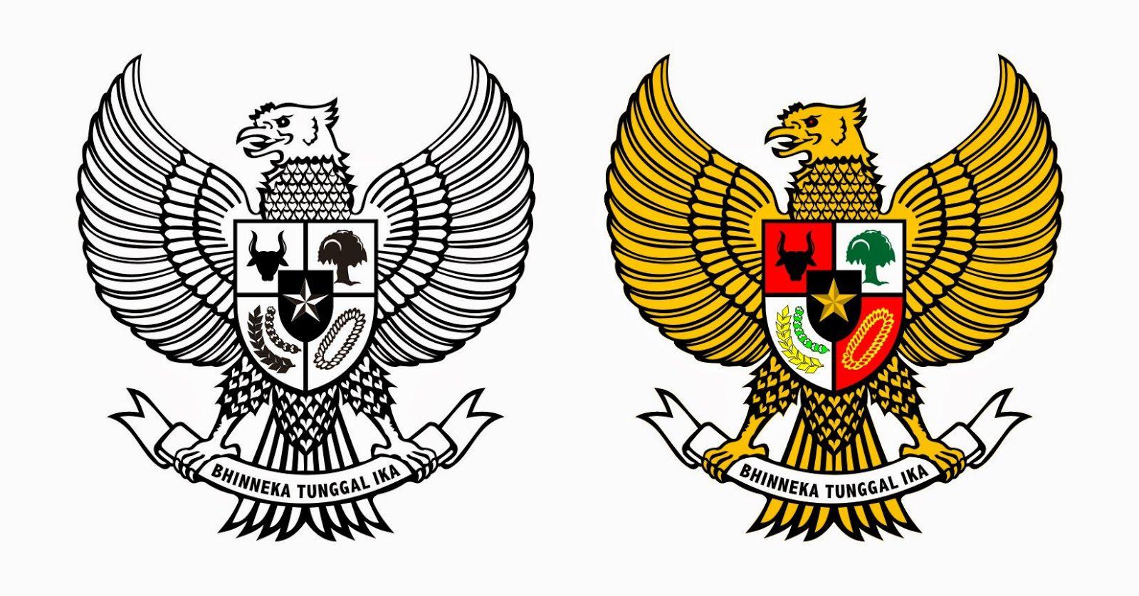 Garuda Pancasila Dengan Gambar Lambang Negara Seni Animasi Seni
