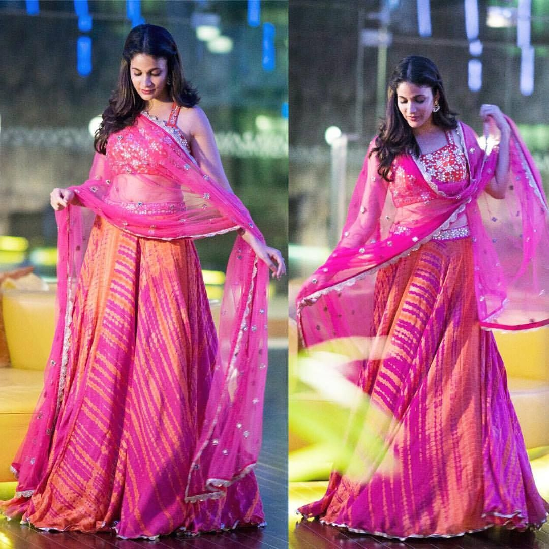 Lavanya Tripati setting the festive mood in this leheriya lehenga ...
