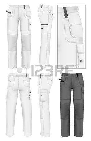 Work Wear Cliparts Stock Vector And Royalty Free Work Wear Illustrations Fashion Design Template Illustration Fashion Design Trousers Design