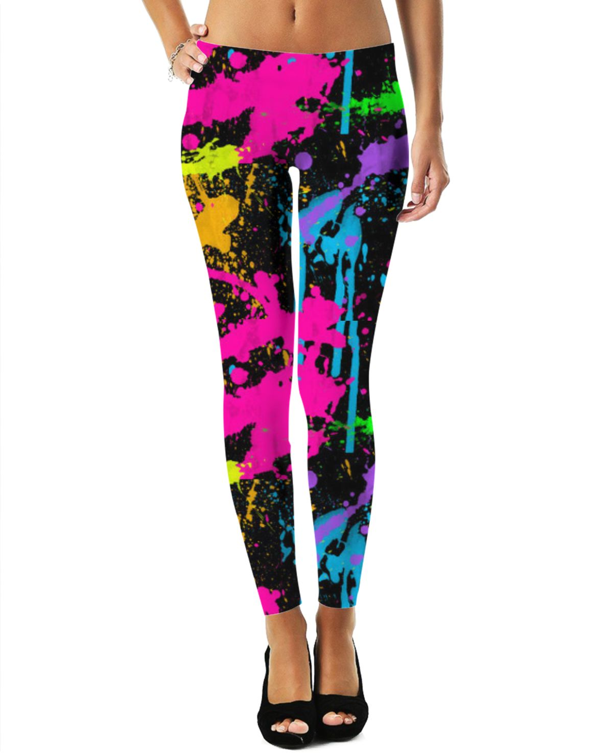 d83e1827ca9c0 Neon Paint Splatter Leggings by: pixipoppi at Rageon! For more art and  design be sure to visit also www.casemiroarts.com, item printed by RageOn.
