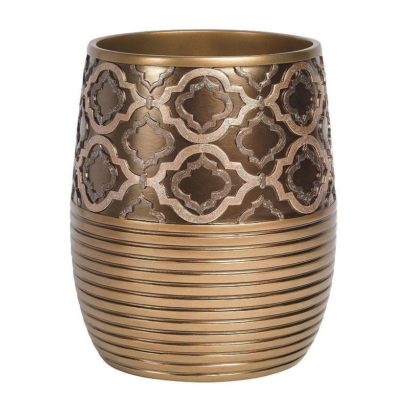 Popular Bath Spindle Waste Basket, Gold