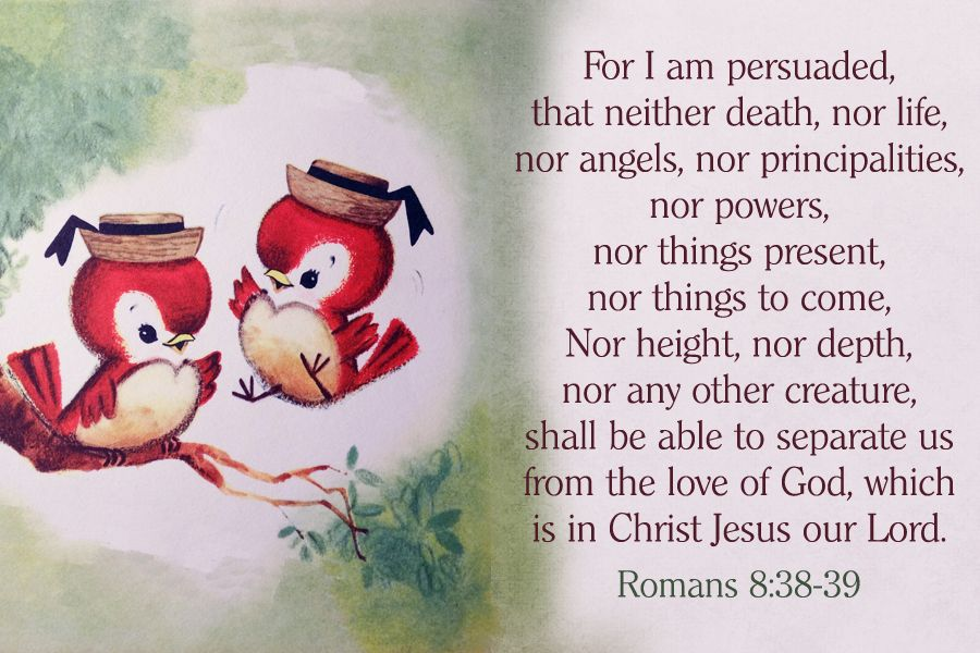 Nothing Shall Be Able To Separate Us From The Love Of God Christian Message  Card Copy