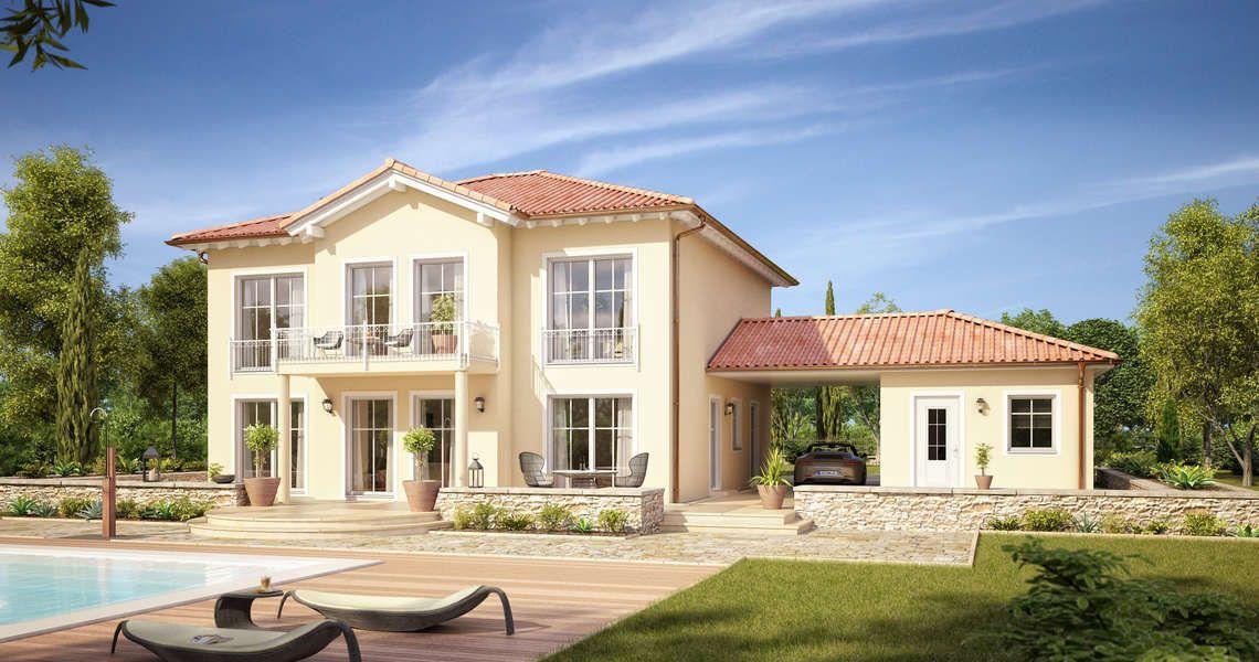 Massivhaus Mediterran massivhaus kern haus stadtvilla aurelio gartenseite houses