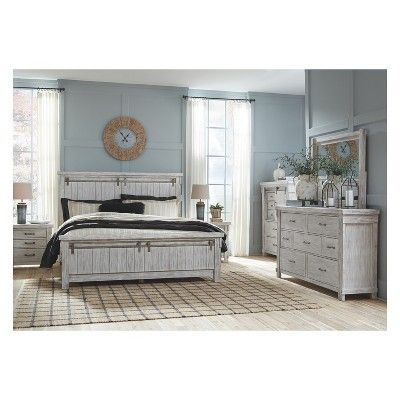 Best Brashland Five Drawer Chest White Signature Design By 400 x 300