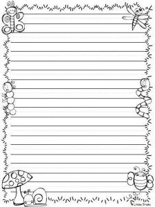 Crazy image within free printable stationery black and white