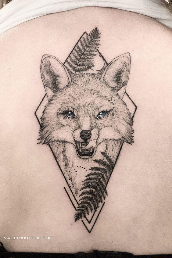Geometric Fox Tattoo Fox Tattoo Fox Tattoo Design Fox Tattoo Men