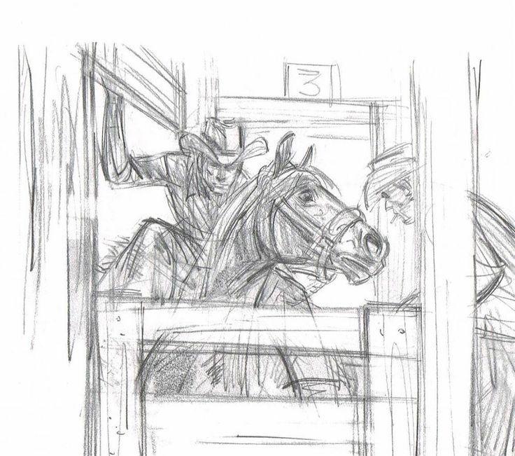 Rodeo pencil drawing ebay 12 99
