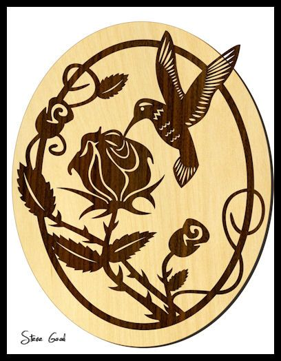 Free scroll saw patterns scrollsaw workshop hummingbird for Wood burning templates free download