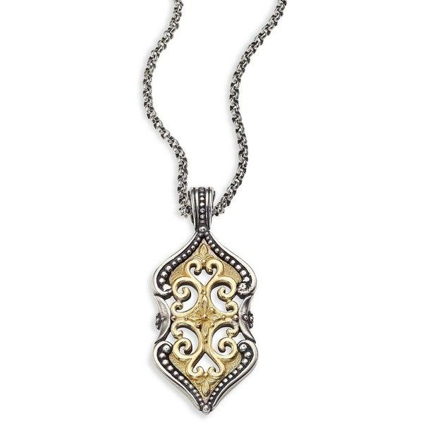 Konstantino Sterling Silver & 18K Gold Double Chain Pendant Necklace Hg0BUJg