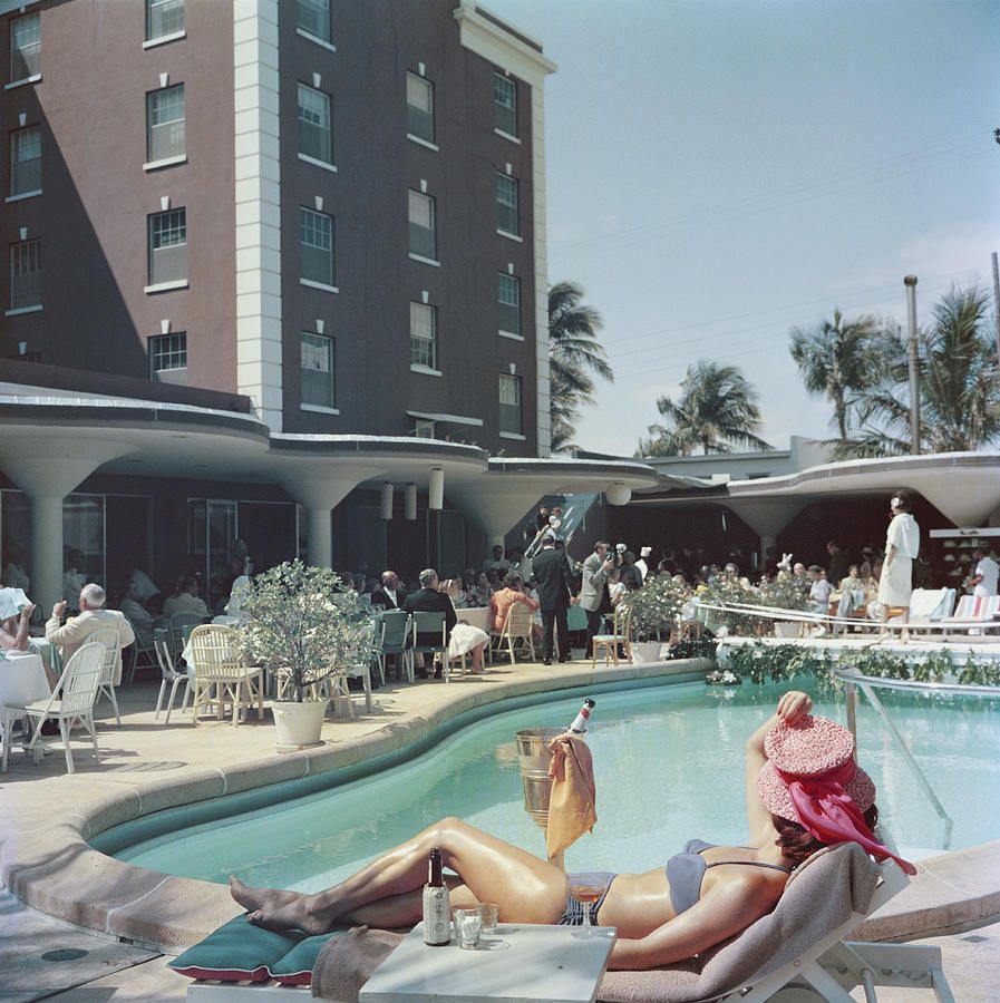 Palm Beach Photograph By Slim Aarons