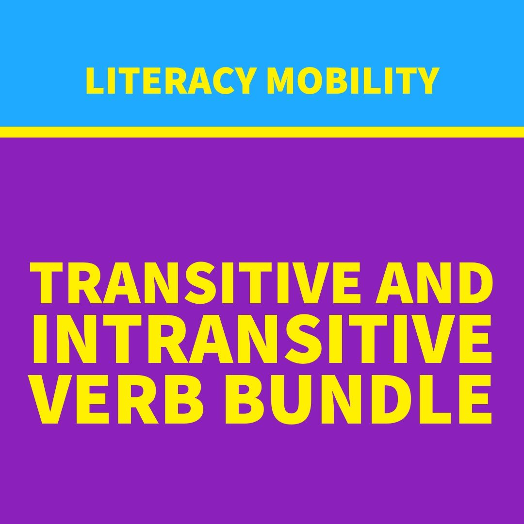 Transitive And Intransitive Verb Bundle Intransitive Verb Language Arts Classroom Literacy [ 1080 x 1080 Pixel ]