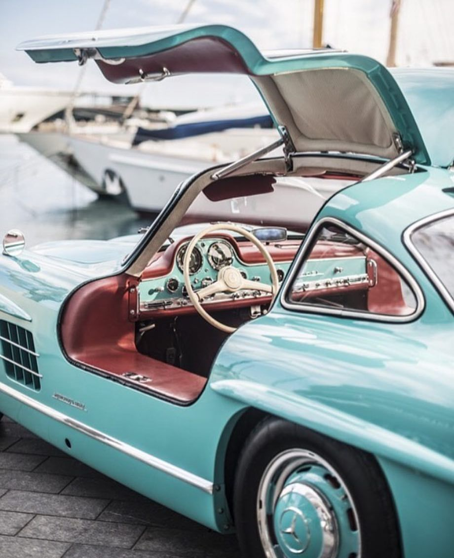 "Car&Vintage on Instagram: ""• Open your mind. Mercedes-Benz 300SL Gullwing W198 •  By @remidargegenphotographies for @classicdriver #mind #monaco #france #italy #love…"""