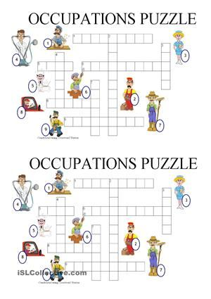 Occupations puzzle | professions and jobs | Pinterest