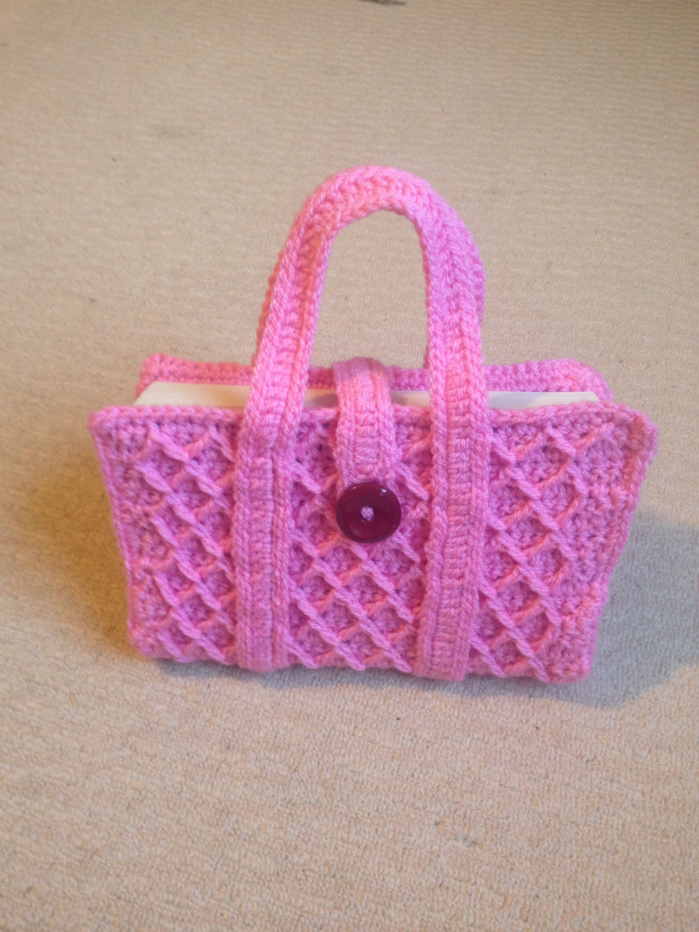 Crochet book cover crochet bags Pinterest