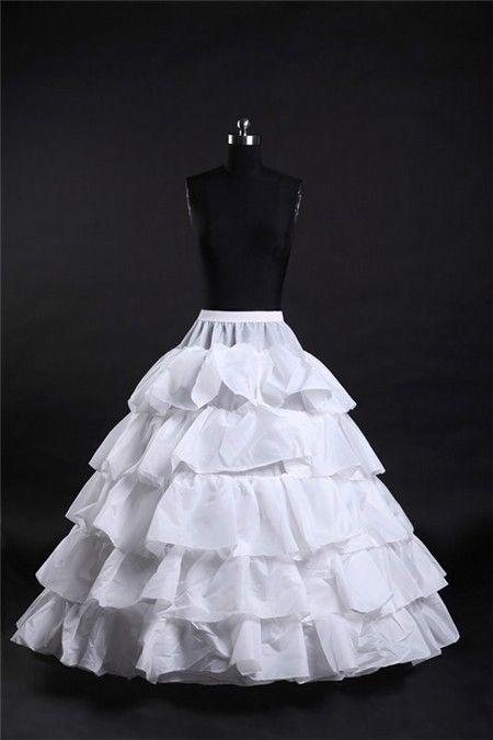 Ball Gown Tiered Hooped Ruffle Wedding Bridal Crinoline Petticoat Underskirt Abiti Da Ballo Vestiti Da Cerimonia Nuziale Sottogonna