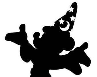 Sorcerer Mickey Mouse Vinyl Decal Sticker Disney Silhouettes Mickey Silhouette Disney Symbols