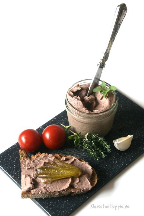 Photo of Kidney bean spread vegan liver sausage, such as liver sausage, spread