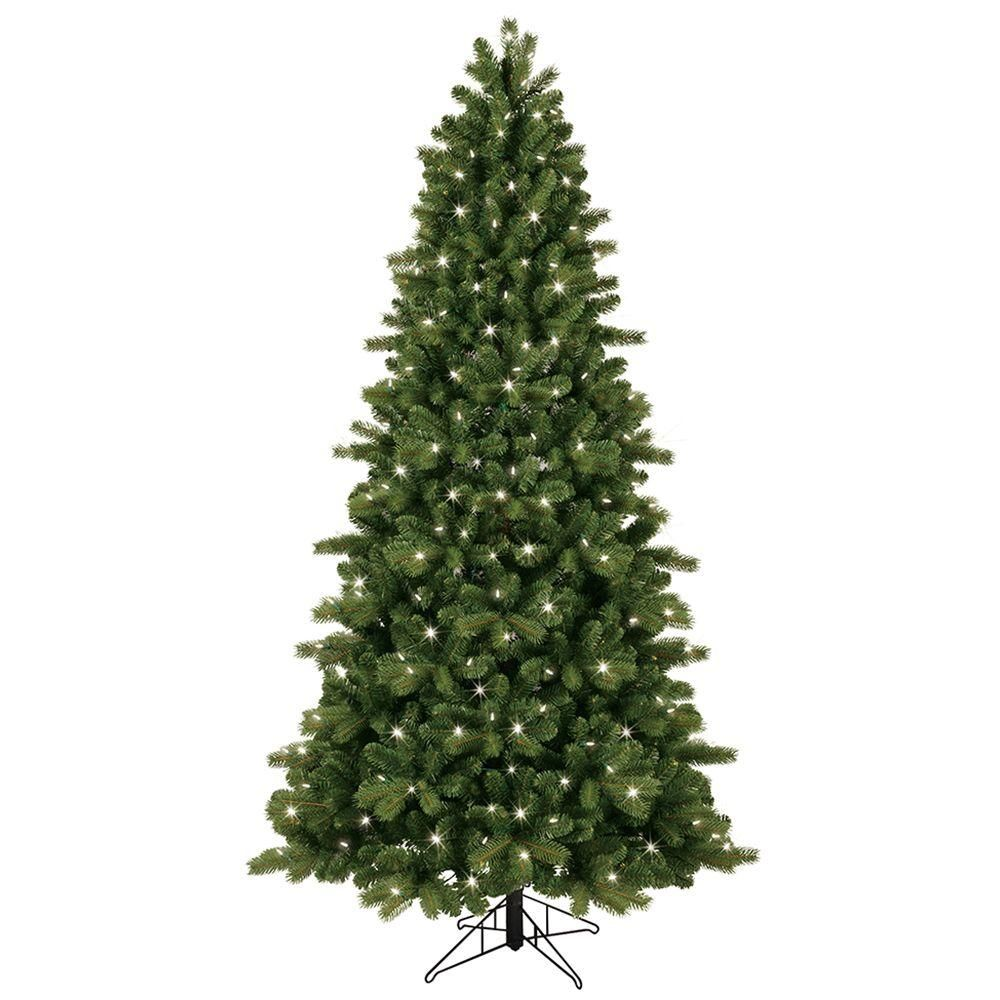7 5 Ft Pre Lit Led Energy Smart Just Cut Colorado Spruce Artificial Tree With Color Choice Lights Ez Light Technology Greens