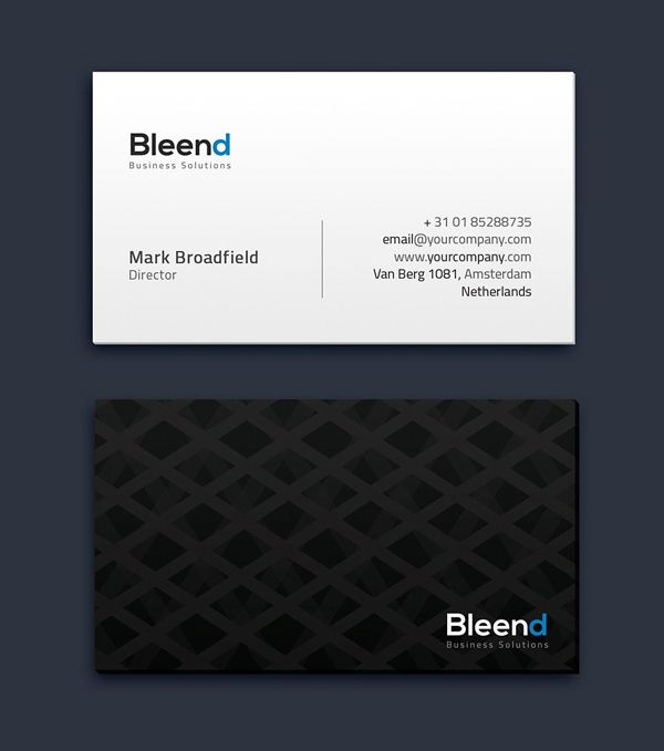 Simple Business Card Template #minimaldesign #minimal #businesscard ...