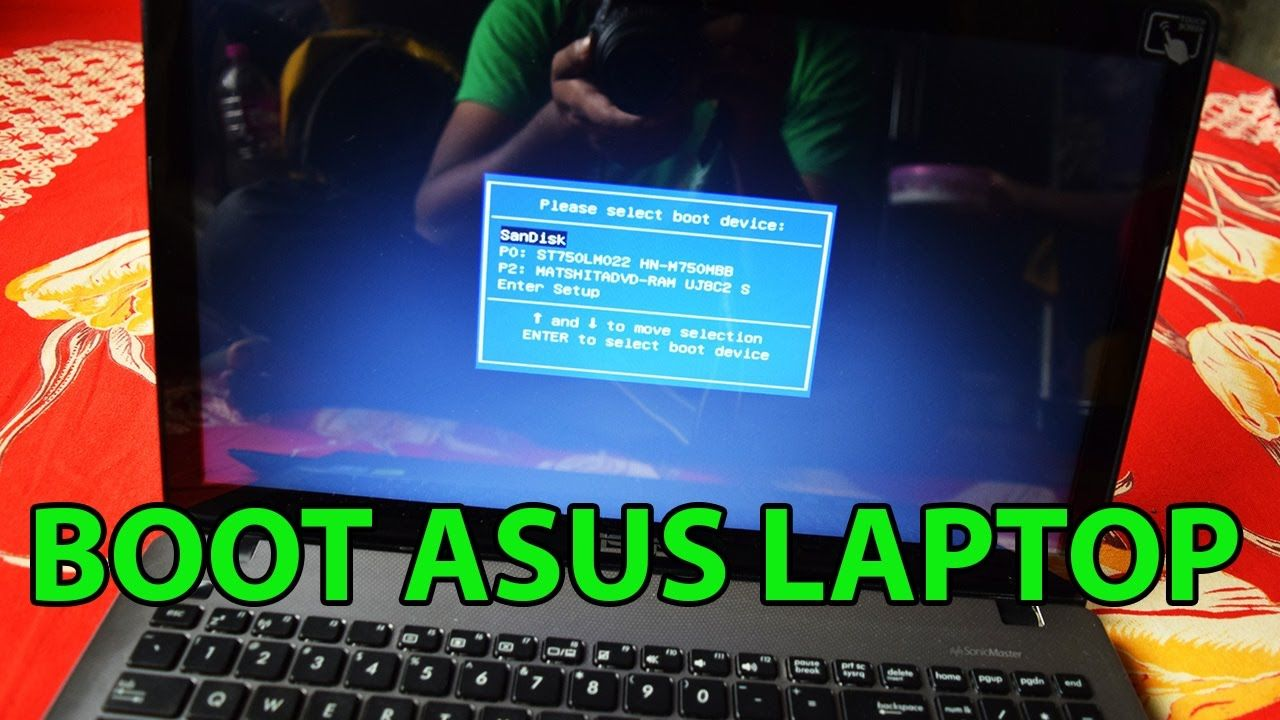 How to Boot Asus F550 Laptop From Bootable USB Drive to