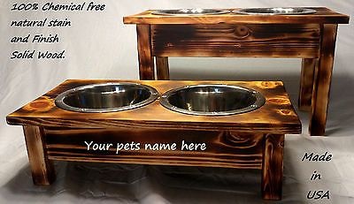 Heavy Duty Chemical Free 1 2 3 Raised Dog Bowl Stand One Of A Kind