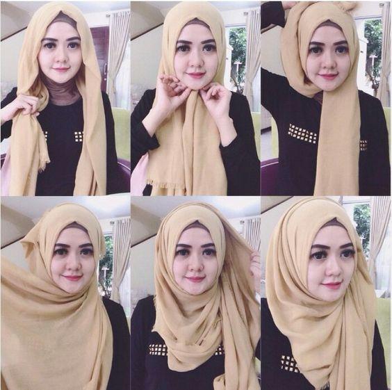 25 Tutorial Hijab Pashmina Simple Anggun Untuk Formal Serta Sehari Hari Tutorial Hijab Mudah Kerudung Hijab