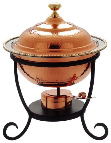 Old Dutch 12¿ x 15¿ Round Decor Copper Chafing Dish,  3 Qt Old Dutch http://www.amazon.com/dp/B000UCJIDS/ref=cm_sw_r_pi_dp_8j-pwb16SC97J