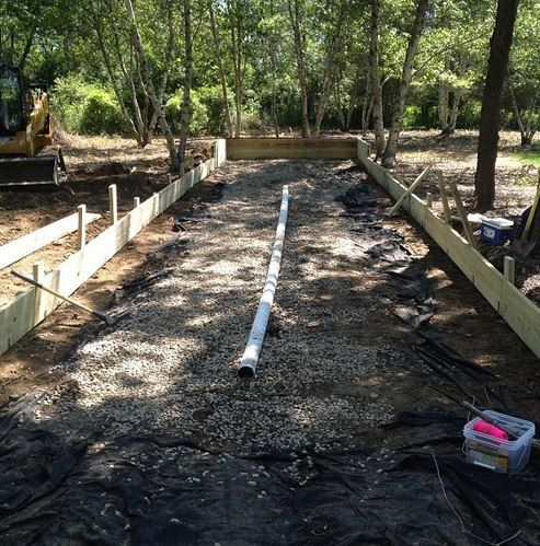 Drainage For Backyard Bocce Court Outdoor Spaces