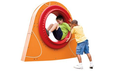 Revo | Playworld Systems®, Inc. - Sitting inside, a child can turn a full 360 or rock back and forth.