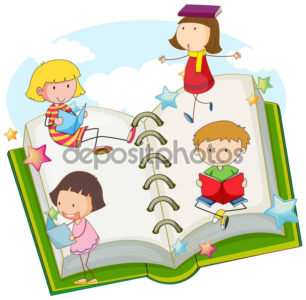 Resultado De Imagen De Dibujos Niños Leyendo Cuentos Kids Reading Books Kids Reading Cartoon Art