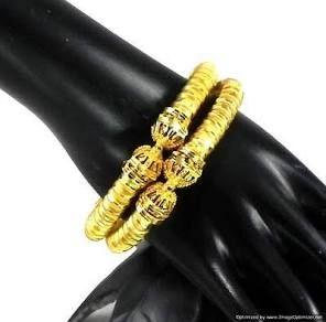 Handmade Ethnic Indian Fashion Jewelry Gold Plated Bracelets Bangle