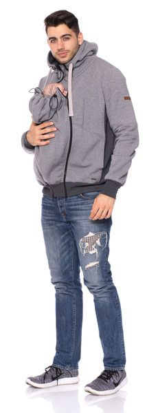 Tragetücher & Mei Tai - HUGO Sweat-Tragejacke für Männer + Rückentrage - ein Designerstück von Milchshake-by-AgnesH- bei DaWanda