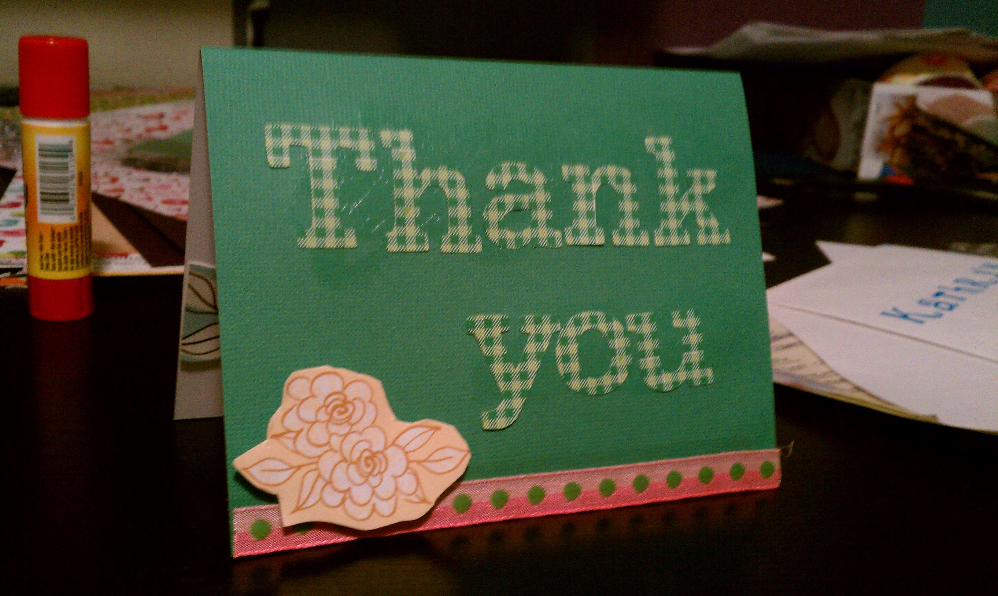 Easy DIY Thank you card
